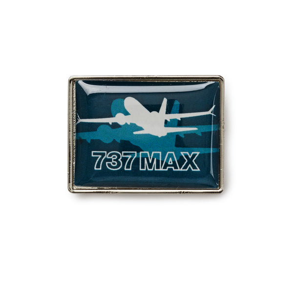 737 MAX Shadow Graphic Lapel Pin