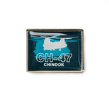 CH-47 Shadow Graphic Lapel Pin