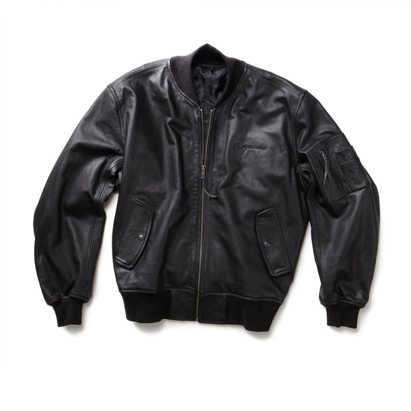 MA-1 Leather Flight Jacket - 2X-3X