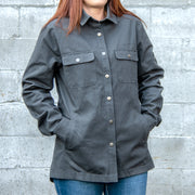 Canvas Shirt Jacket with Flannel Lining -- Women