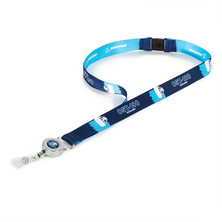 Boeing Shadow Graphic CST-100 Starliner Lanyard
