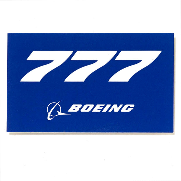 Boeing 777 Blue Sticker
