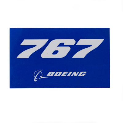 Boeing 767 Blue Sticker