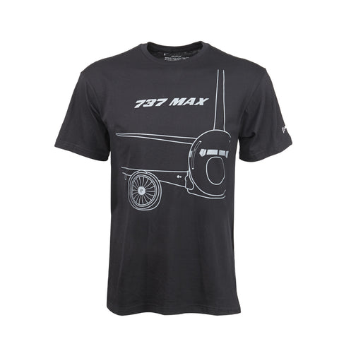 737 MAX Midnight Silver T-Shirt