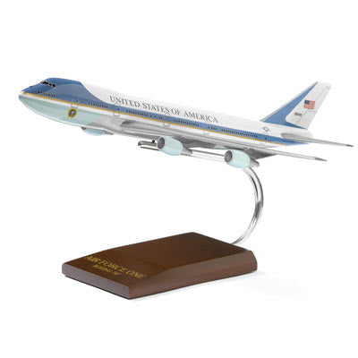Boeing 747 Air Force One Wood 1:200 Model