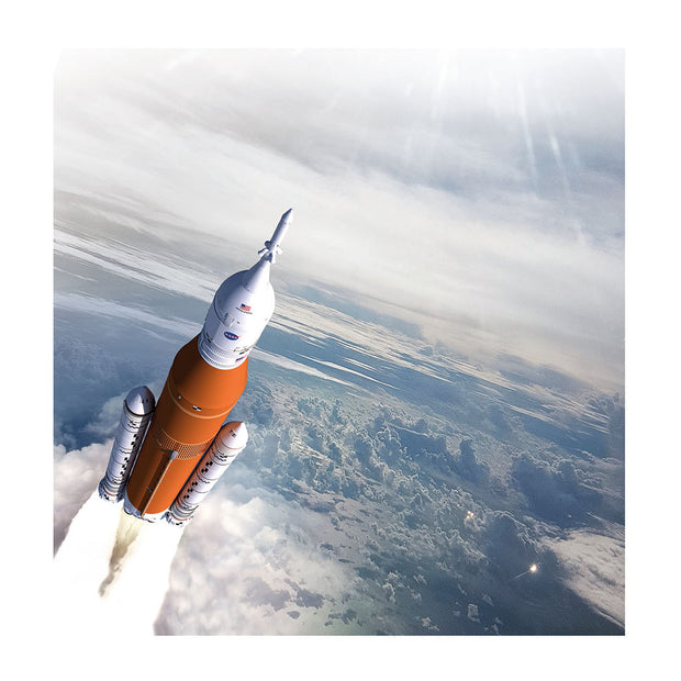 Boeing SLS Matted Print - Large (2752899252346)