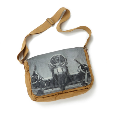 B-17 Head-On Canvas Messenger Bag