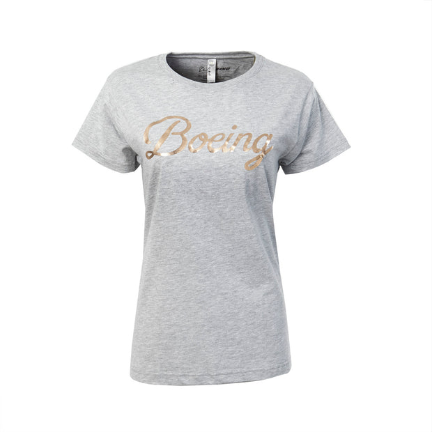 Rose Gold and Gray T-Shirt - Women (212454768652)
