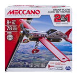 Meccano 2-in-1 Stunt Plane Model Kit
