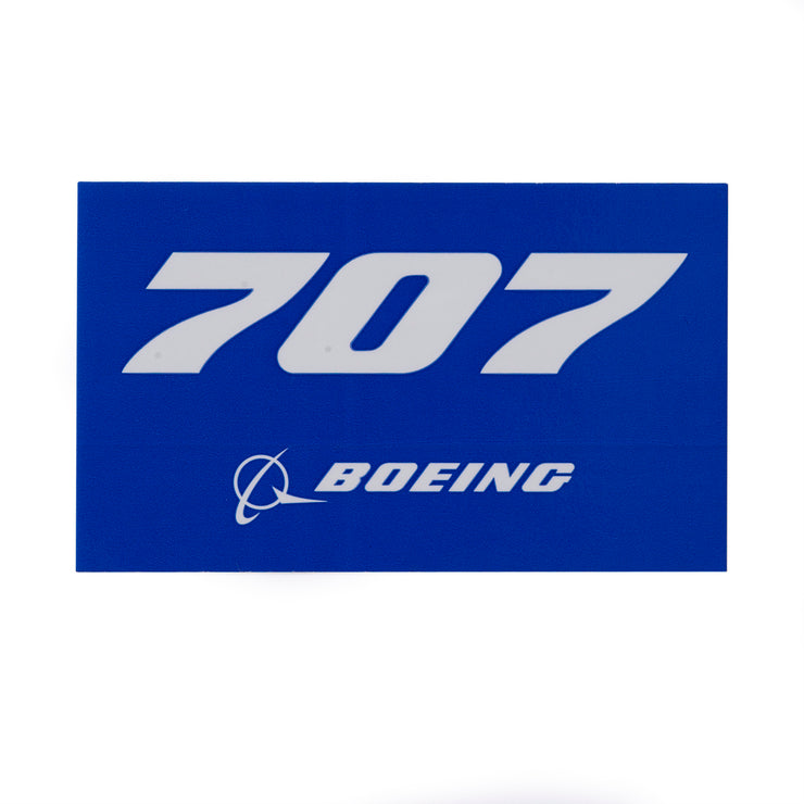 Boeing 707 Blue Sticker