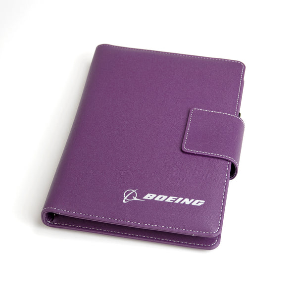 Boeing Heathered Notebook With Built In Powerbank