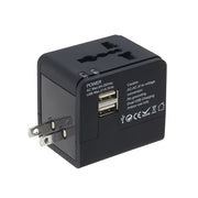 Global Adapter with Dual USB
