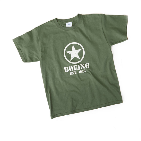 Boeing Stencil Star T Shirt Youth The Boeing Store