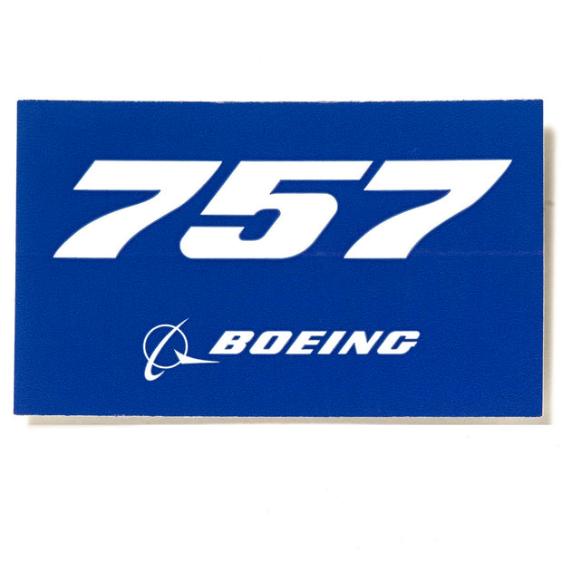 Boeing 757 Blue Sticker