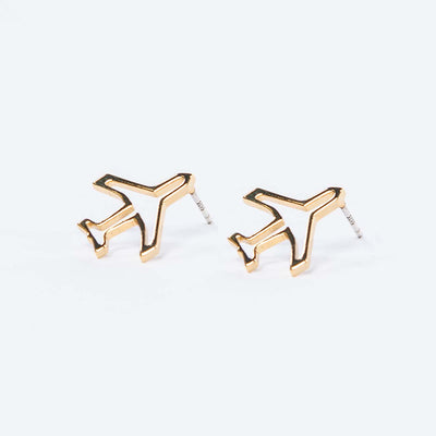Boeing Airplane Stud Earrings (3008098599034)