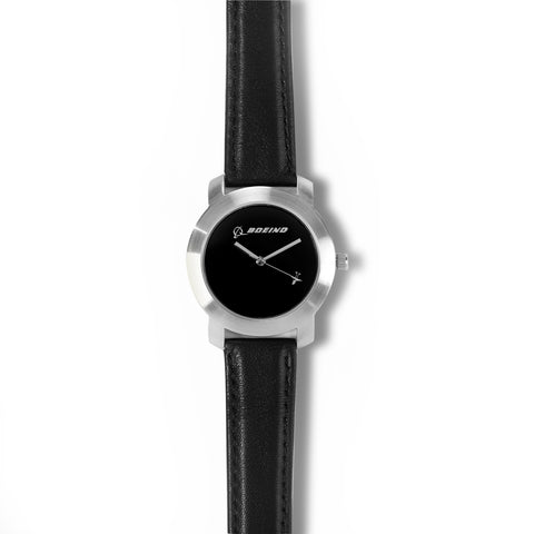 Silver Rotating Airplane Watch - Women's Sizing