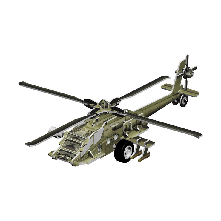Motorized AH-64 Apache Helicopter 3D Puzzle (6413072902)