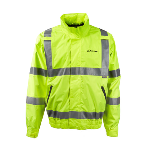 Boeing Safety Yellow Windbreaker Jacket
