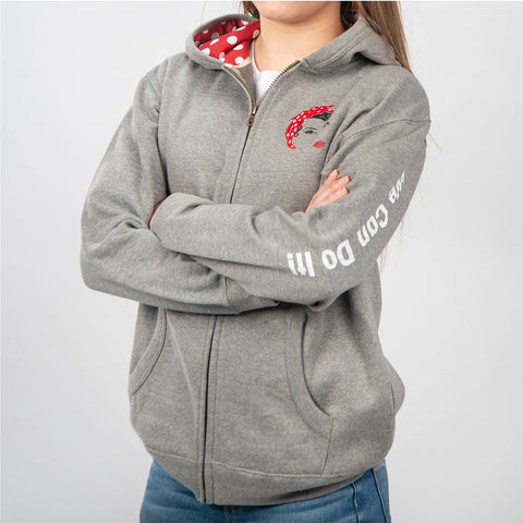 "Rosie ""We Can Do It!"" Youth Full-Zip Hoodie"