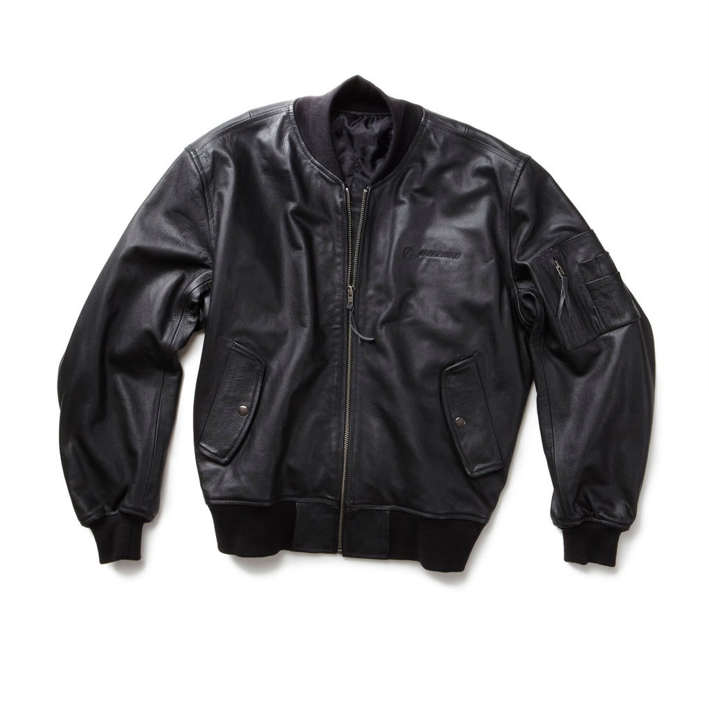 MA-1 Leather Flight Jacket – The Boeing Store 88a1cec4058