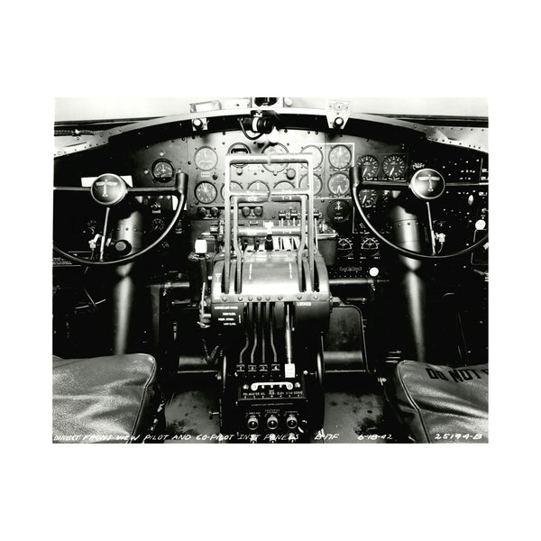 B-17 Cockpit Matted Print