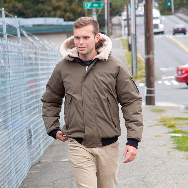 Boeing Hooded Sherpa Bomber Jacket