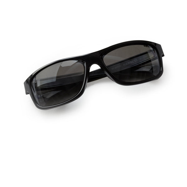 Revo Harness Curved-Fit Black Polarized Sunglasses