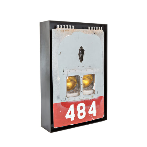 F-4 Phantom II Landing Gear Door Wall Lamp - Gray/Red