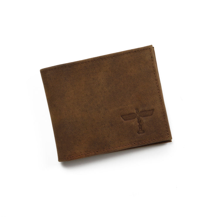 Totem Distressed-Leather Wallet