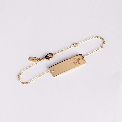 Boeing Airplane Bar Bracelet (3008098140282)