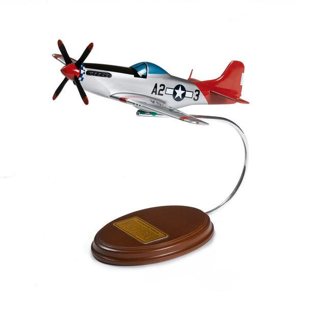 Tuskegee P-51 Mustang Wood Model (213725446156)