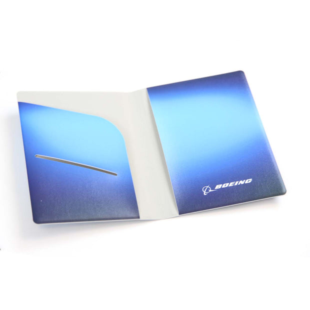 Boeing Living Blue Passport Cover