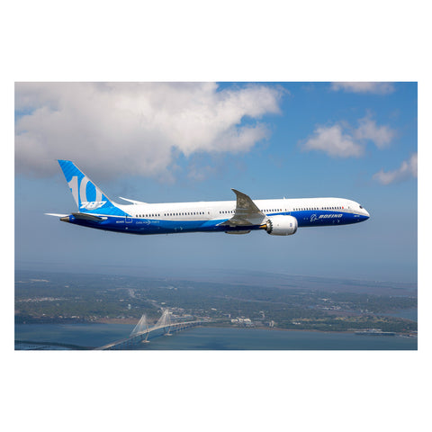 787-10 First Flight Matted Print - Large