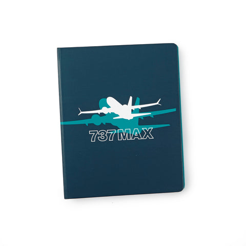 737 MAX Shadow Graphic Notebook