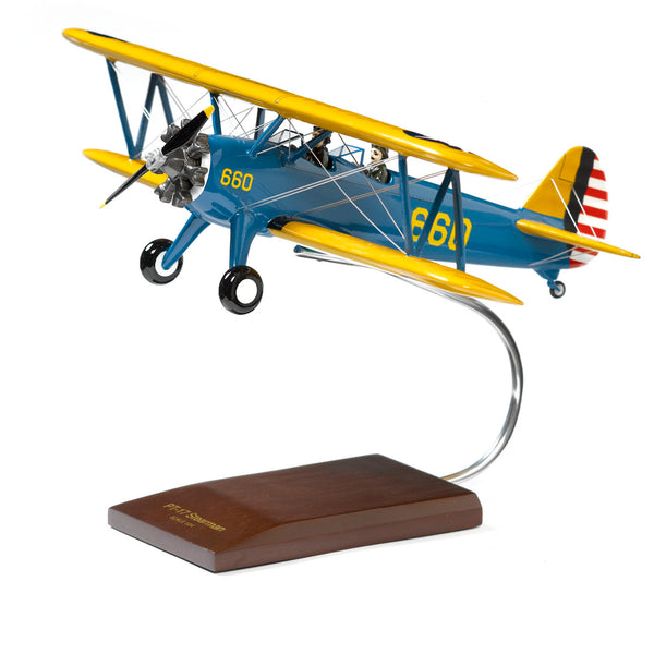 PT-17A Stearman Kaydet Wood 1:24 Model