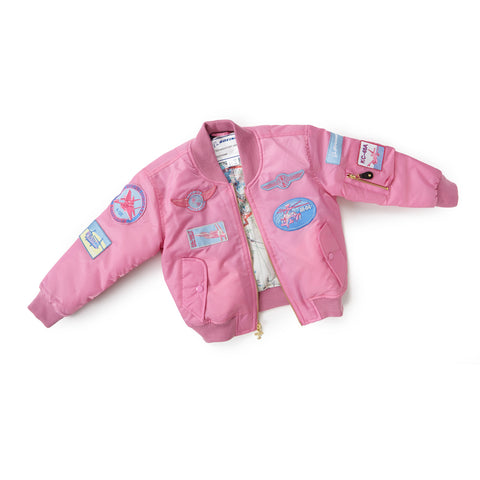 Pink Nylon Flight Jacket - Youth
