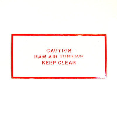 757 ecoDemonstrator Ram Air Door Wall Hanging