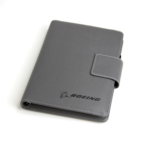 Boeing Heathered Notebook With Built-In Powerbank