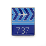 737 Tech Print Lapel Pin
