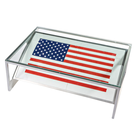 727 Fuselage American Flag Table - Port Side