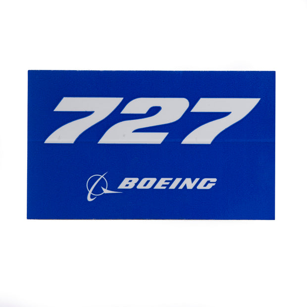 Boeing 727 Blue Sticker