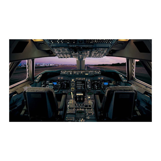 Boeing 747-400 Flight Deck Small Matted Print (2842933067898)