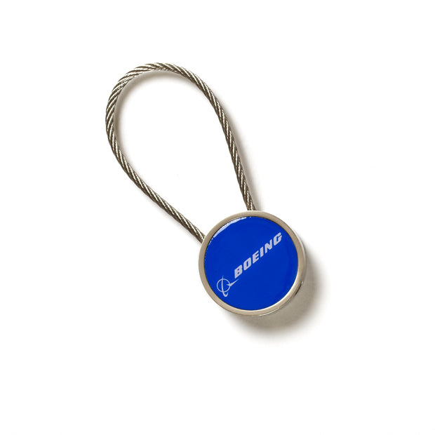 Boeing Logo Cable Keychain