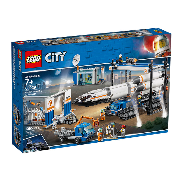 LEGO Rocket Assembly & Transport
