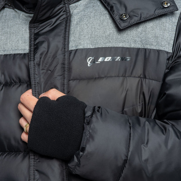 Boeing Quilted Contrast Yoke Jacket