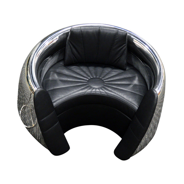 DC-9 JT8D Engine Cowling Chair - Leather Seat and Trim