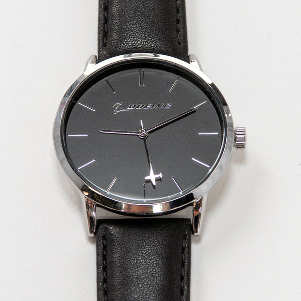 Boeing Silver Rotating Airplaine Watch