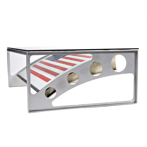 Boeing 727 American Flag Table - Port Side