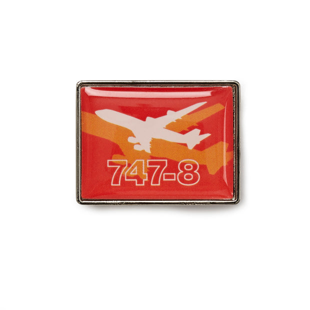 Boeing Shadow Graphic 747-8 Lapel Pin