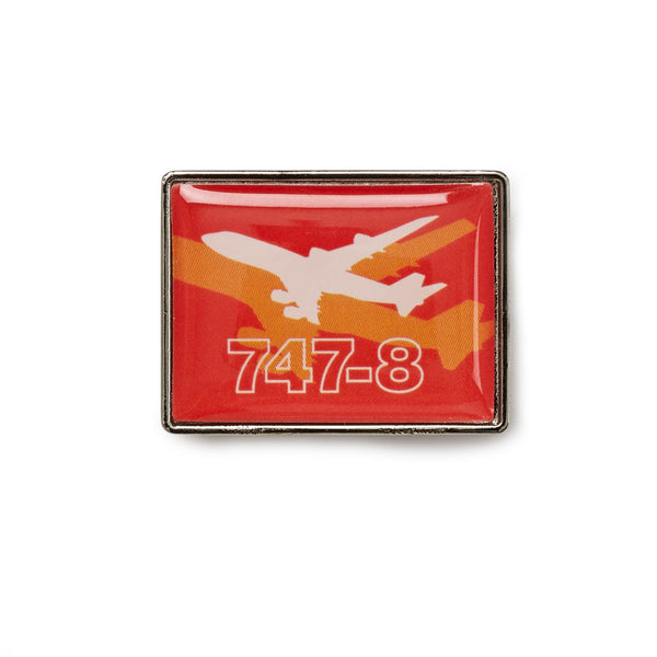747-8 Shadow Graphic Lapel Pin